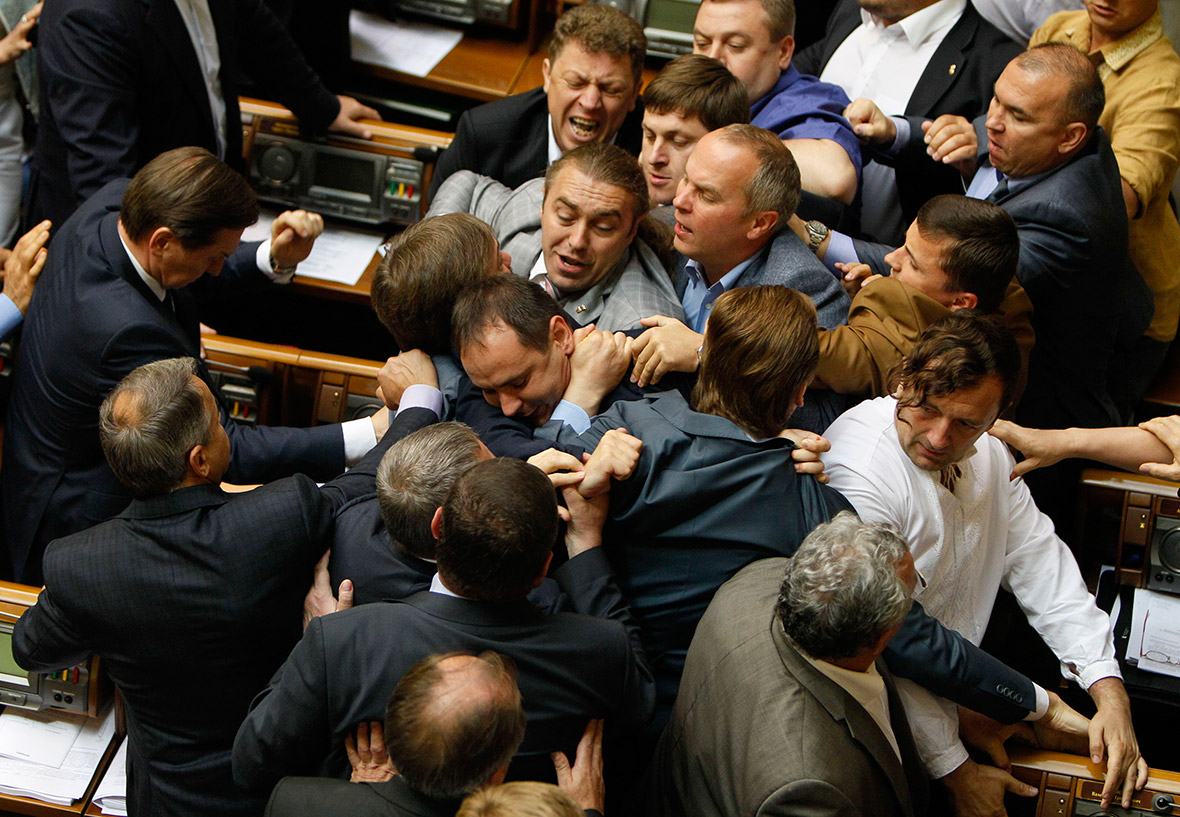 Hot Shots Photos of the Day: Parliamentary Punch-Up, MH17 ...