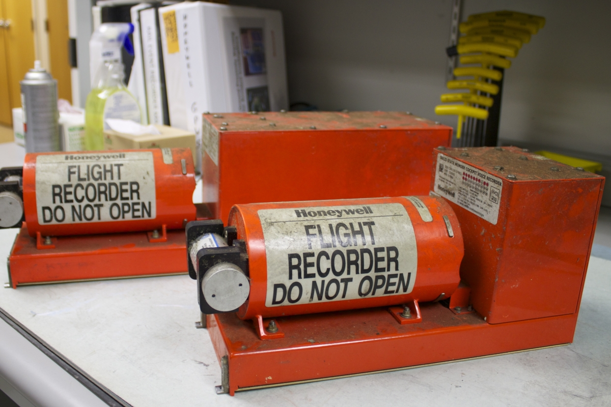 Black boxes - flight data recorder and cockpit voice recorder