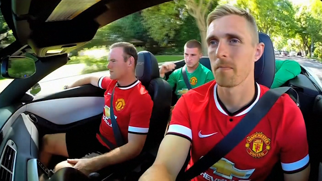 Manchester United Players Cruise through Beverly Hills