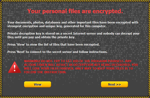 Onion Ransomware Splash Screen