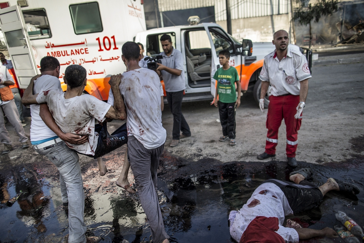Missile strike by Israel on a crowded market in Gaza left many dead an injured
