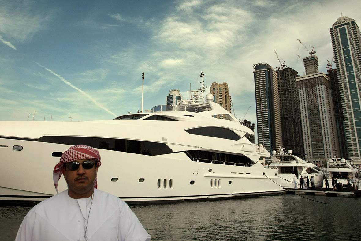 wealthy yacht
