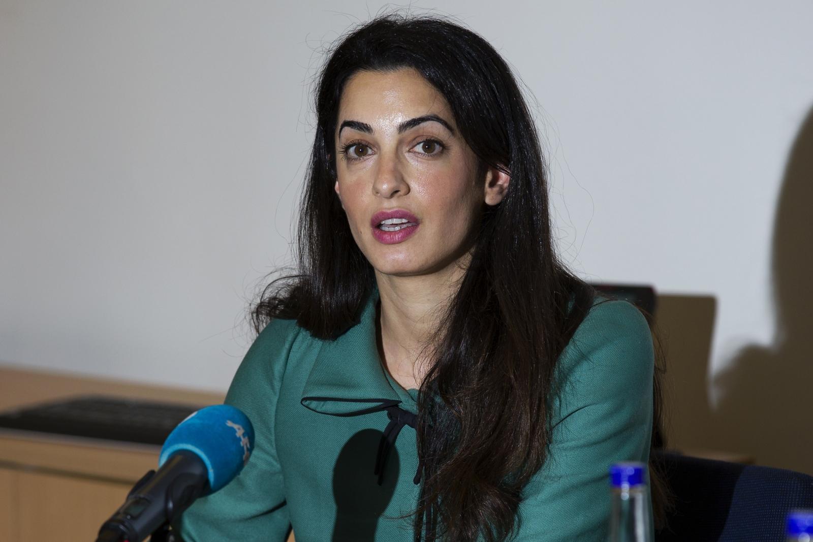 British-Lebanese human rights lawyer and George Clooney's fiancée Amal Alamuddin
