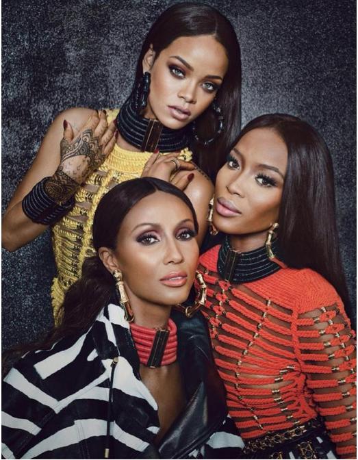 Rihanna, Naomi Campbell & Iman