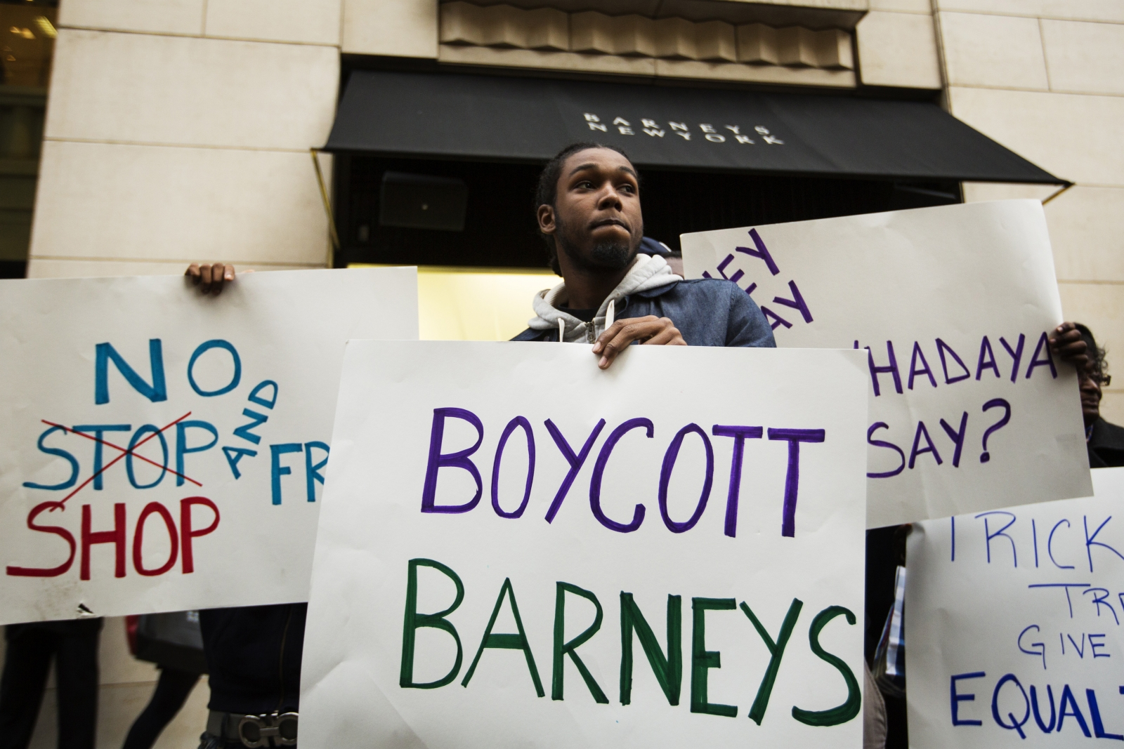 Barneys protest against racial profiling
