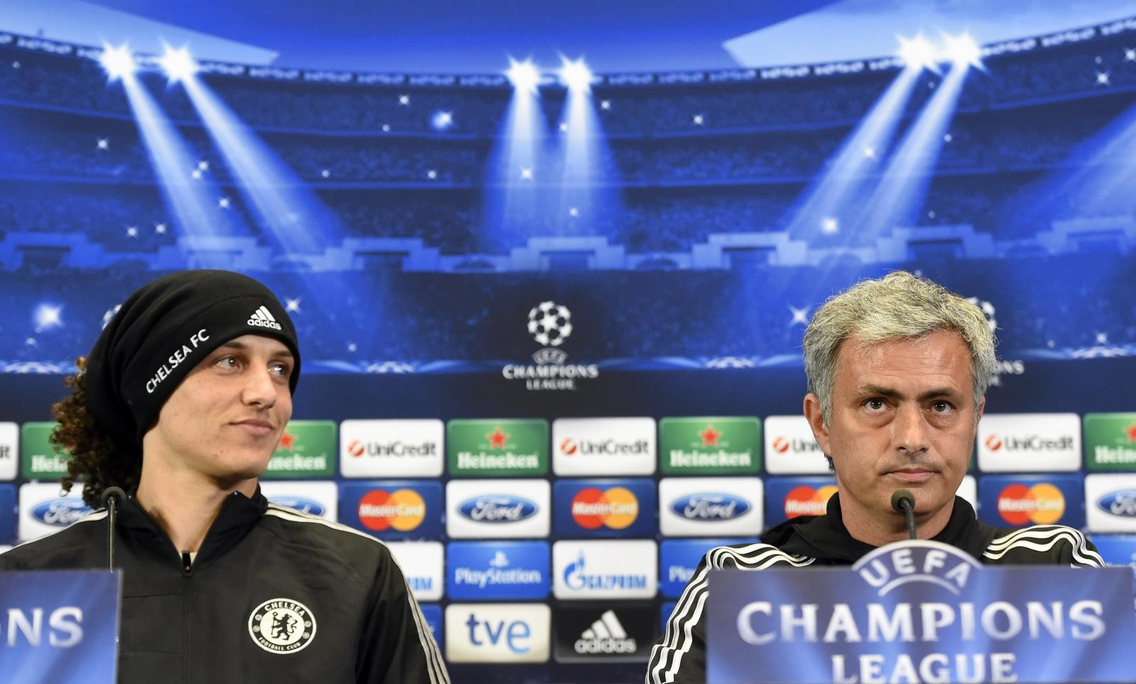Jose Mourinho and David Luiz