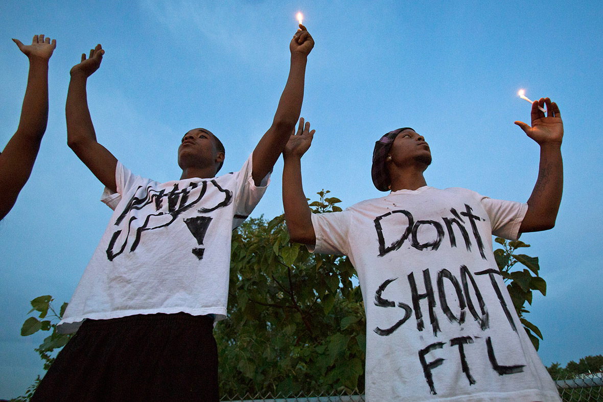 ferguson mike brown hands up don't shoot