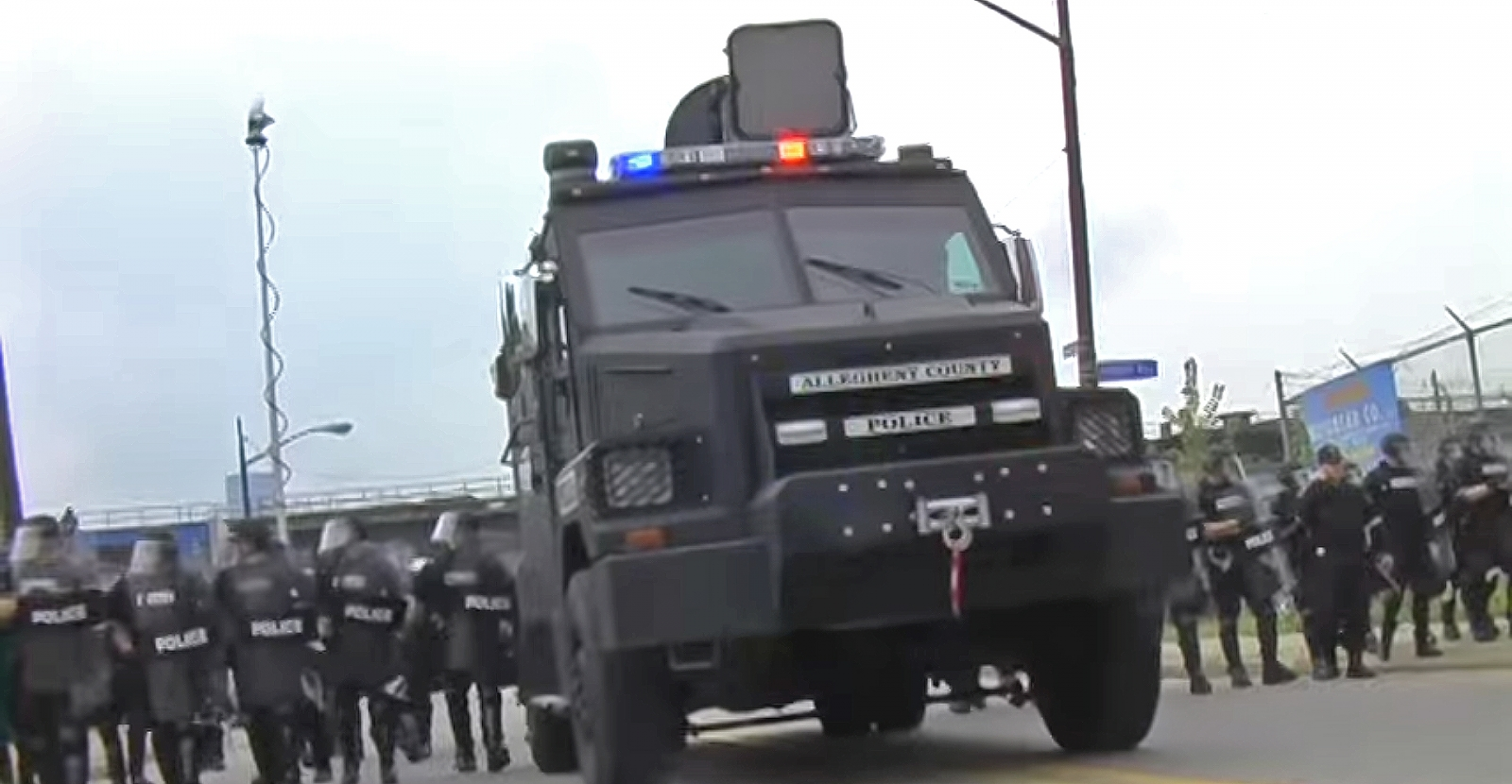 LRAD sound cannons are being used on protesters in Ferguson, similar to this one used at the G20 protests in Pittsburgh in 2009