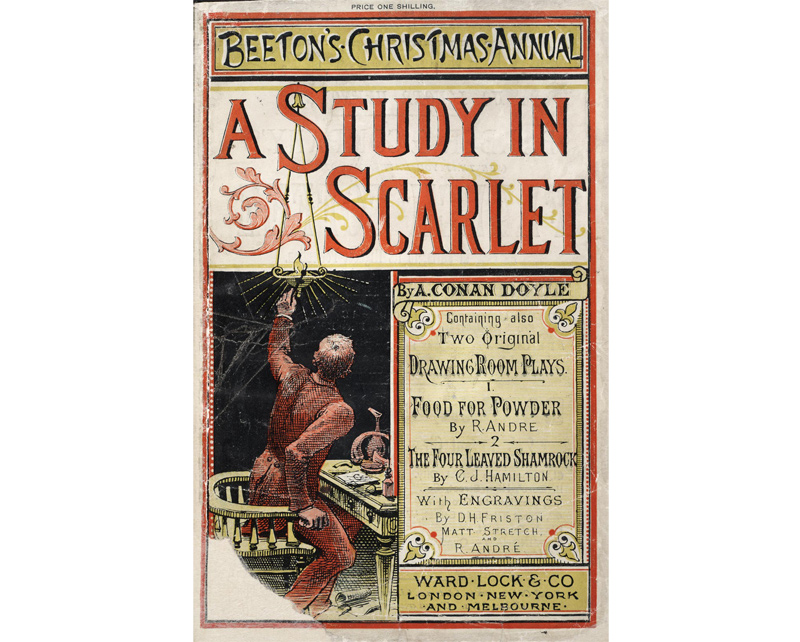 A Study in Scarlet - a lost Sherlock Holmes film from 1914 is based on this book