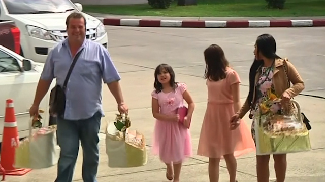 British Girls Reunited with Father in Thailand