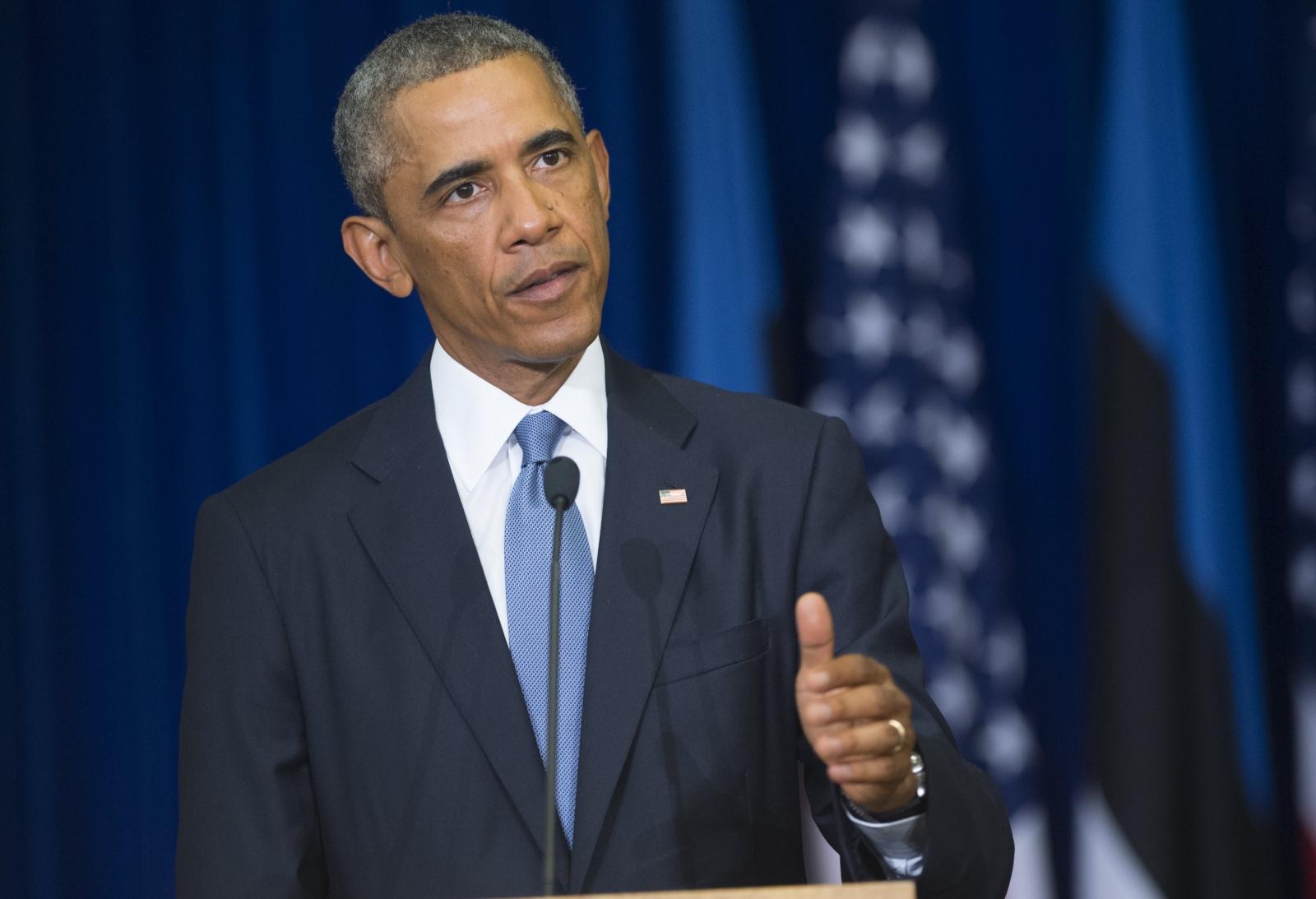 US President Barack Obama estonia