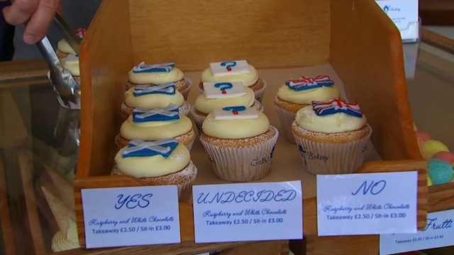 Scottish Bakery Conducts Independence Cupcake Poll