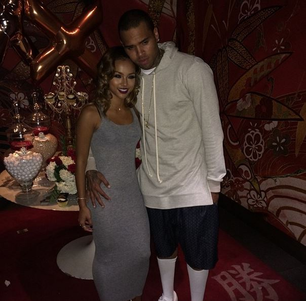 karrueche tran dating chris brown Karrueche tran was pictured holding hands with victor cruz the actress notably dated chris brown for five years.
