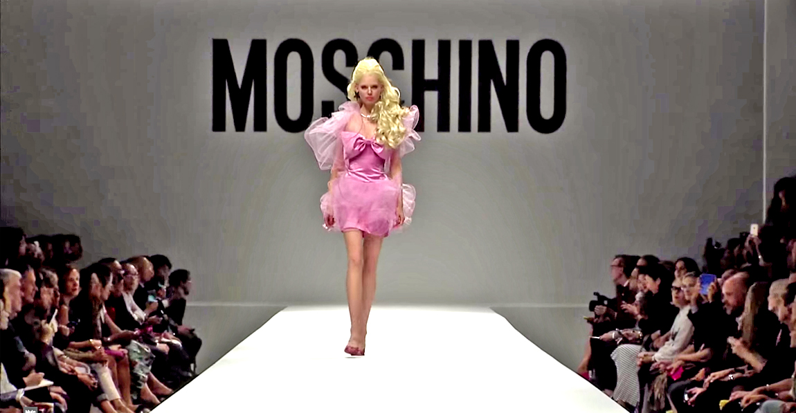Milan fashion week 2014 moschino s colourful barbie doll inspired