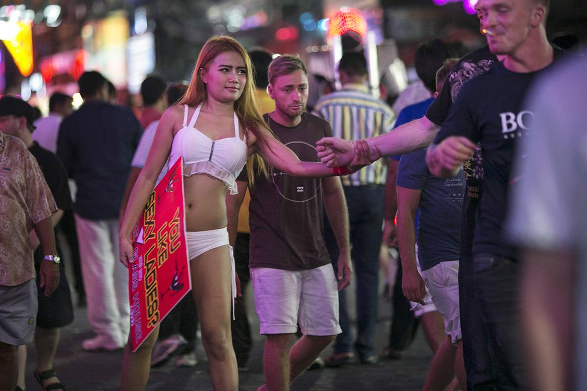 thailand pattaya police arrest transsexual prostitutes in crackdown