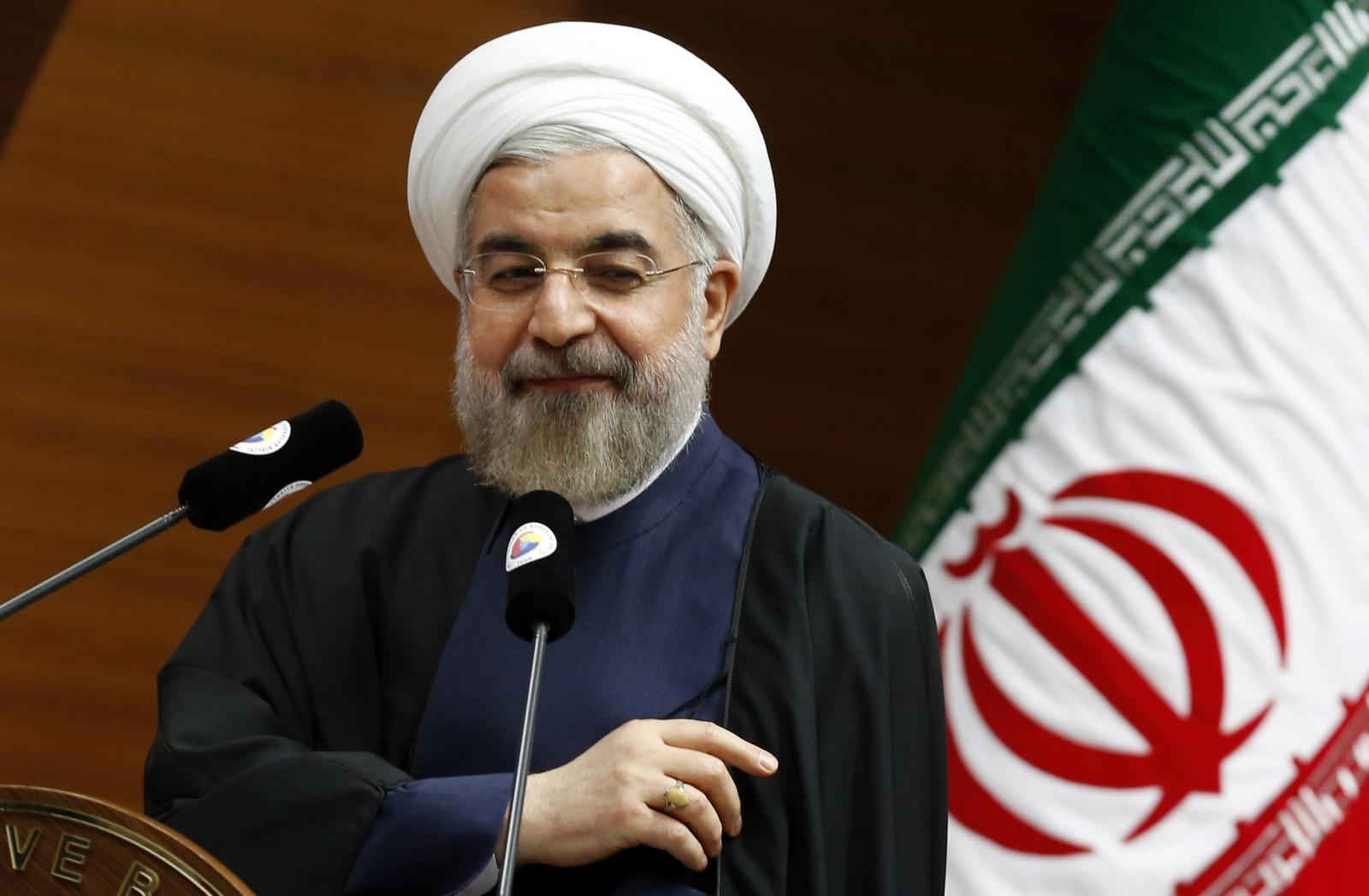 Znalezione obrazy dla zapytania Hassanem Rouhani