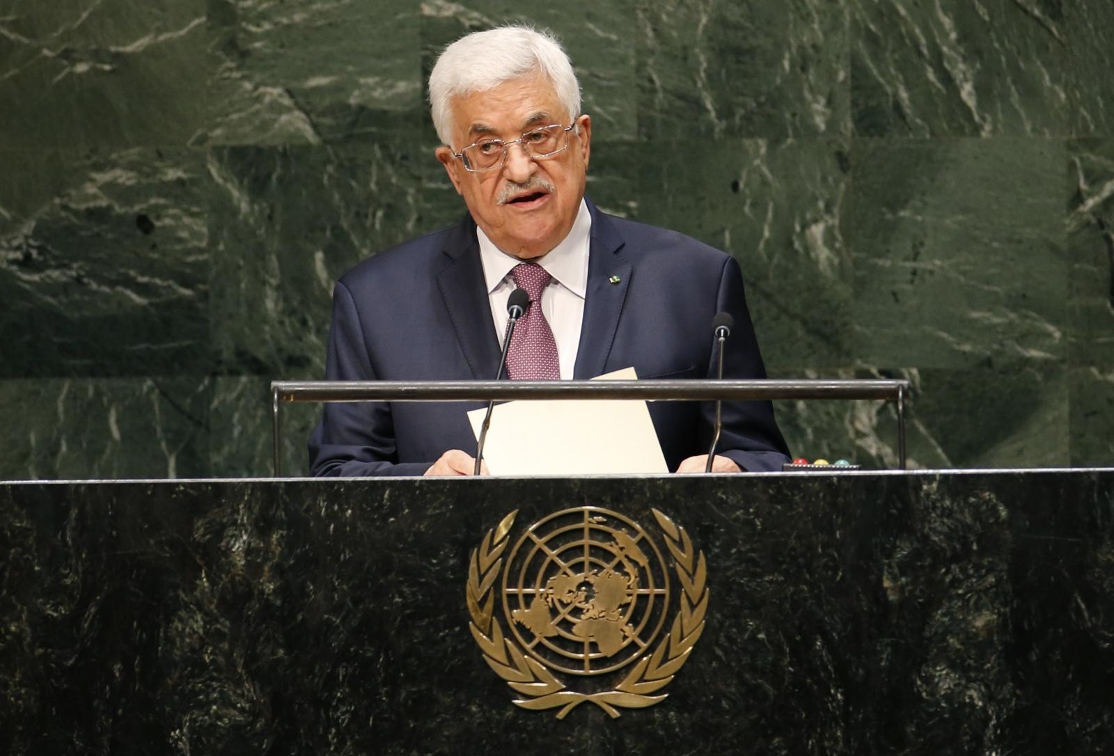 Abbas UN Israel