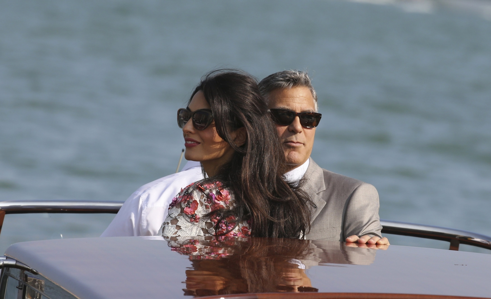 Speedy Public Outing for Clooney and Alamuddin after Wedding
