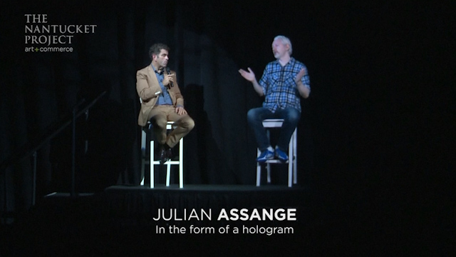 Assange Appears in Nantucket Festival as a Hologram