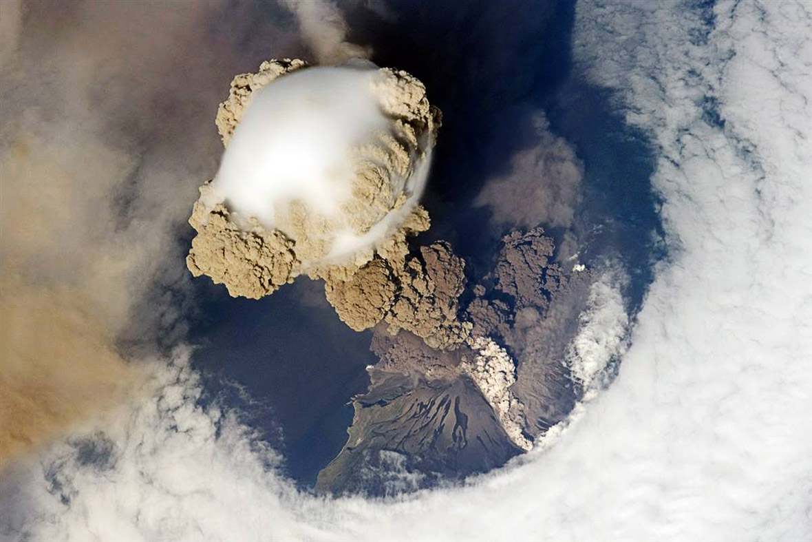 volcano eruption from outer space