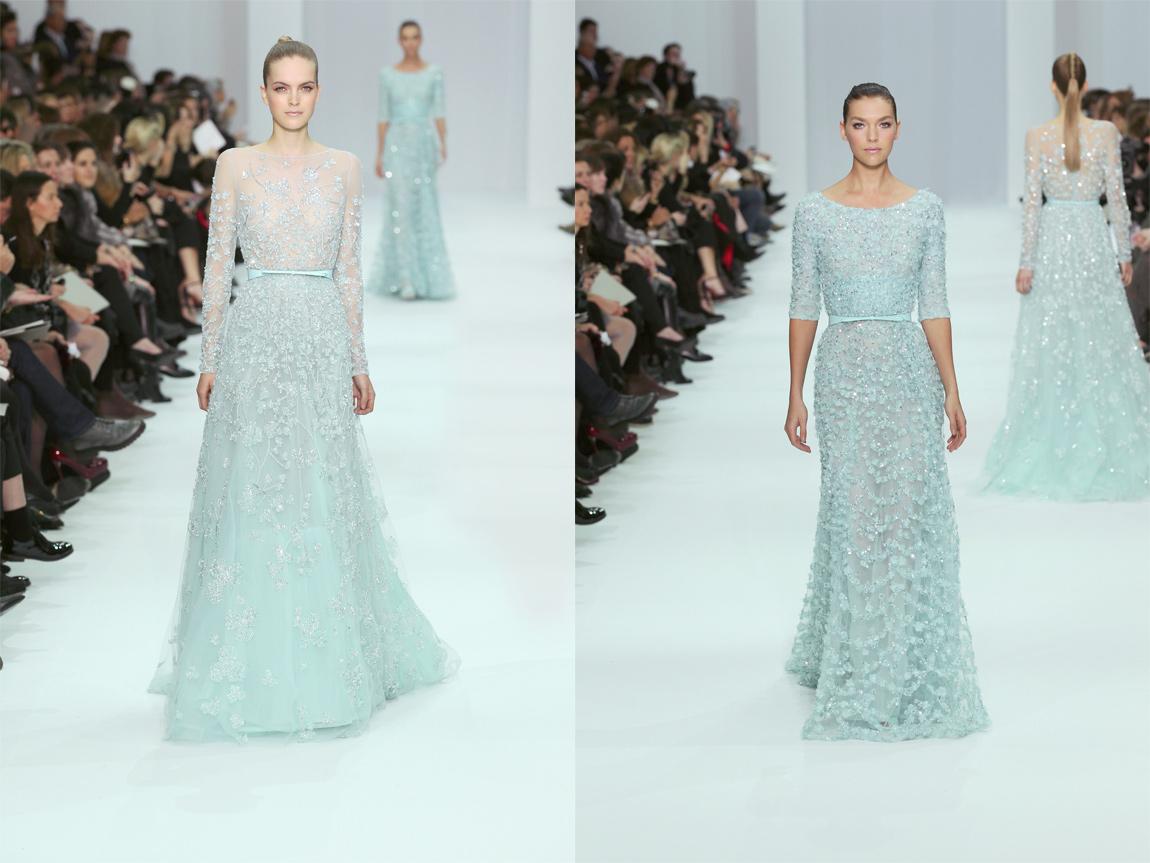 Ice blue wedding dresses from elie saab s spring summer 2015