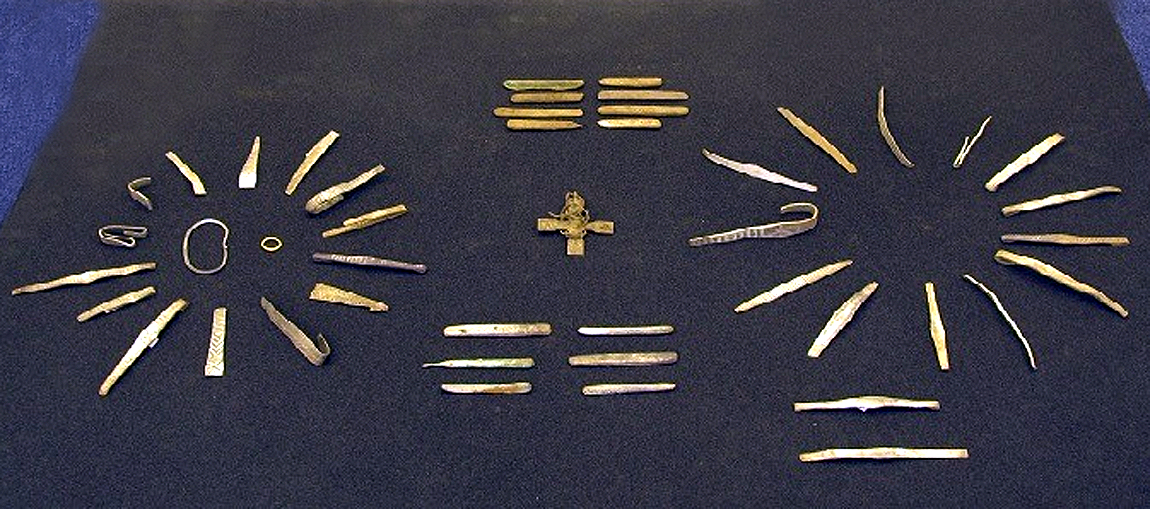 Over 100 silver items have been found in the Viking treasure hoard, as well as some gold objects