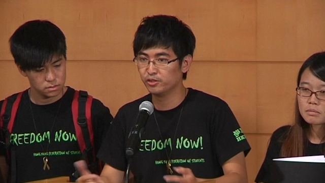 Hong Kong Students Put Their Case to Government