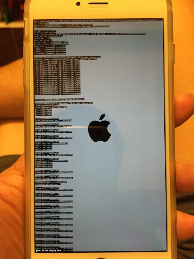 how to crash iphone 6