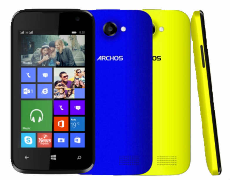archos launches 40 cesium smartphone running windows phone 8 1 in europe at 89 device to hit. Black Bedroom Furniture Sets. Home Design Ideas