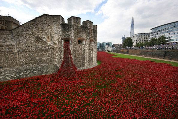 Tower of London Poppies Aerial Images Tower of London Poppy Artist