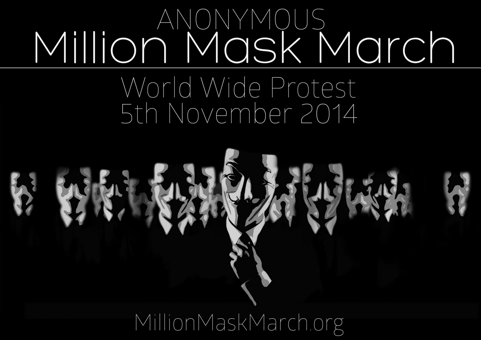 Anonymous Million Mask March 5 November 2014