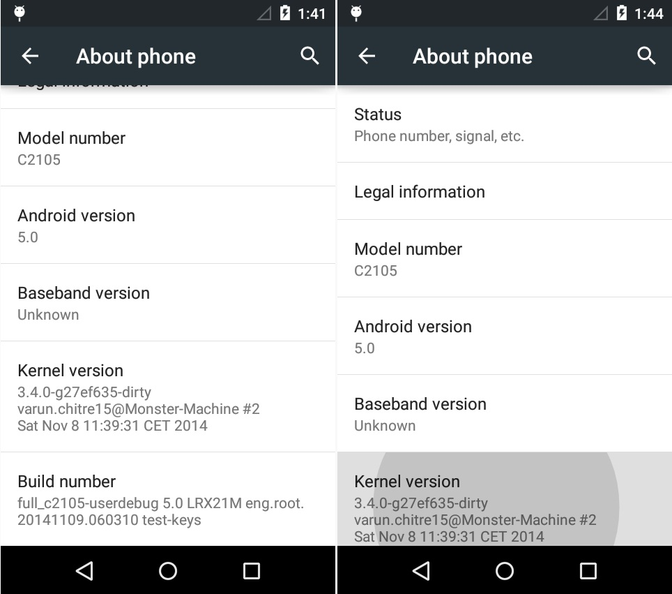 Android 5.0 Lollipop AOSP Custom ROM for Sony Xperia L