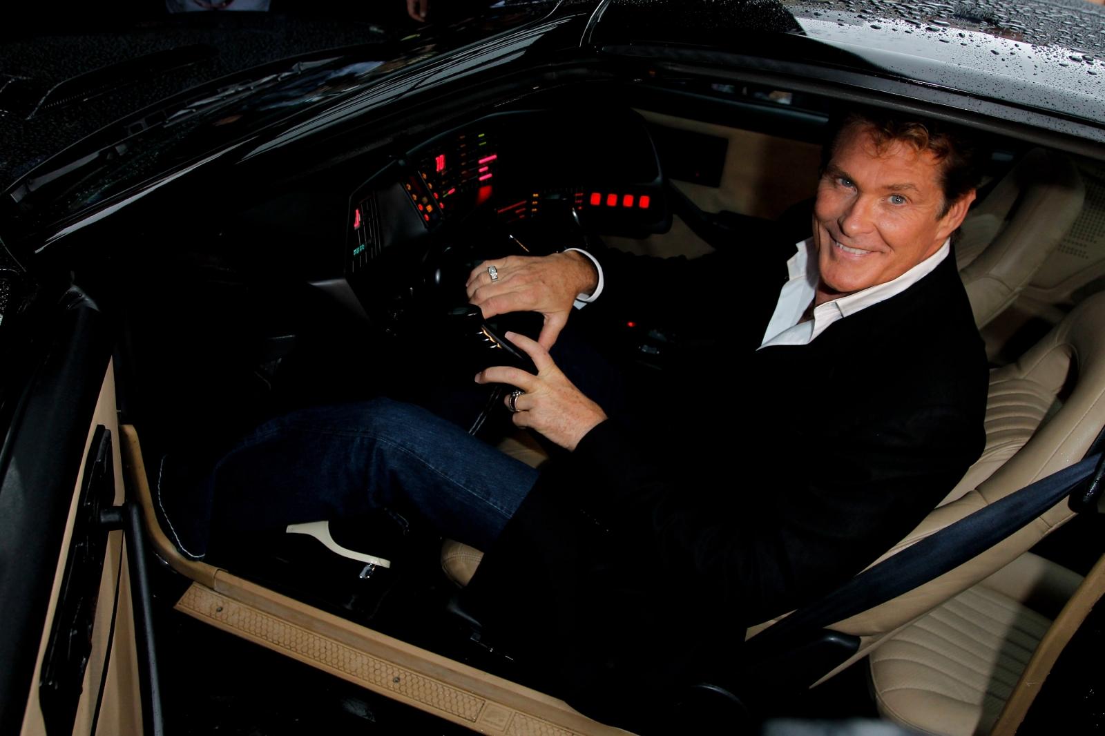 David Hasselhoff in KITT in 2010 (Getty)
