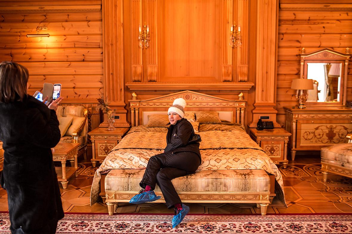 Спальня в доме Виктора Януковича