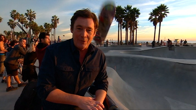 Errant Skateboard Hits Reporter on the Head