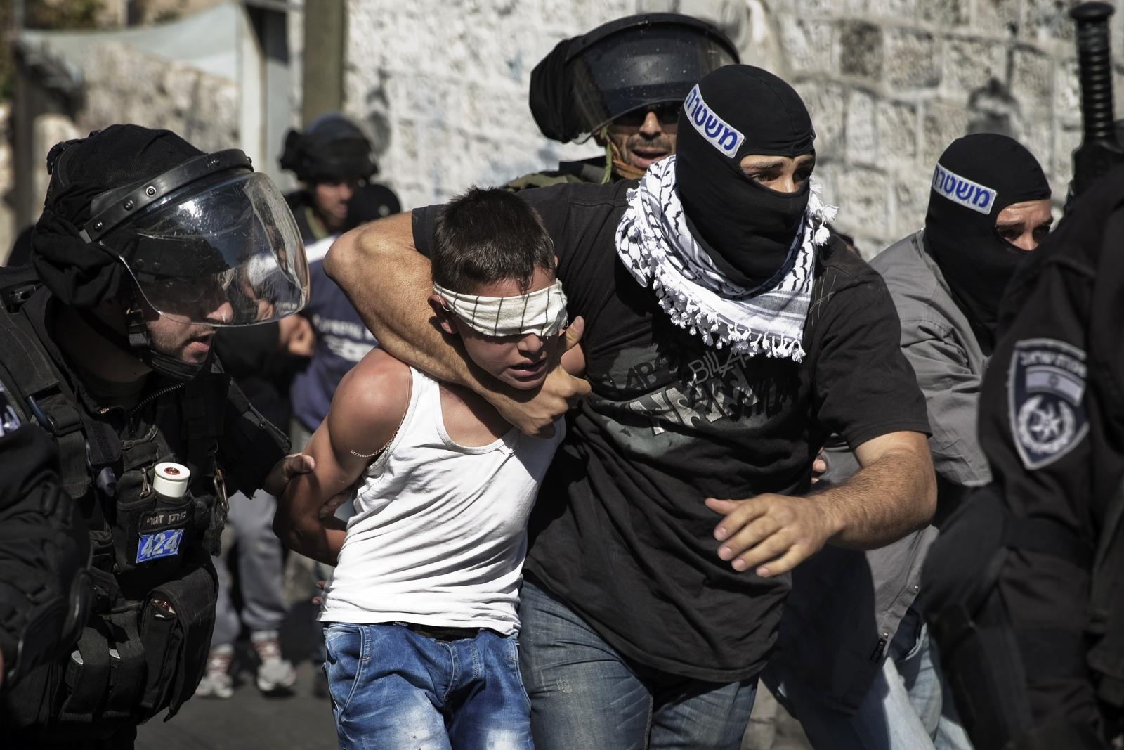 Palestinian children arrested in jerusalem