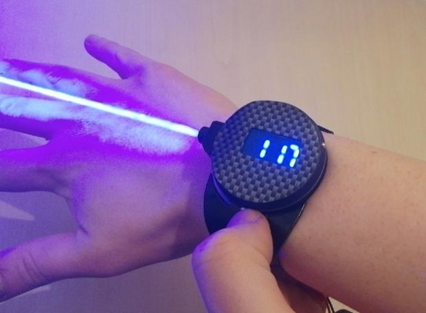 Priebe's laser watch. (Patrick Priebe)