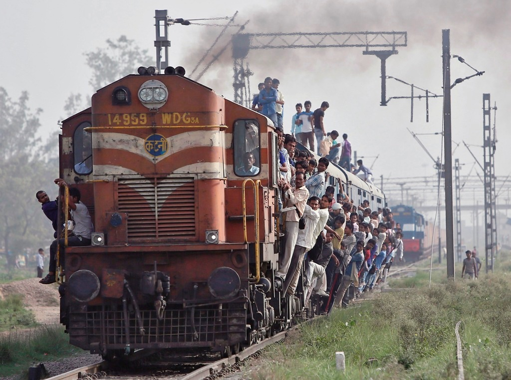 Indian Railways Overcrowded Train
