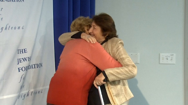 Holocaust Survivor Meets her Rescuer after 69 Years