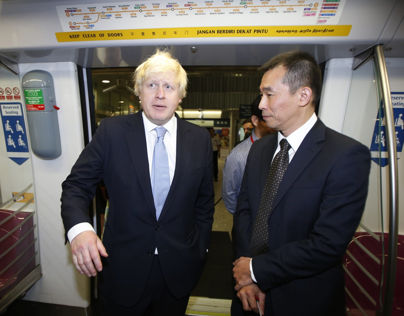 Boris Johnson Takes a Seat on Singapore's Public Transport