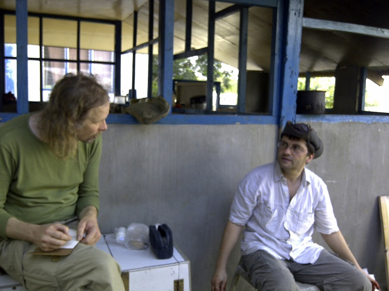Swiss national Lorenzo Vinciguerra (R) is pictured in this undated handout photo released by Tawi-Tawi Police Provincial Command