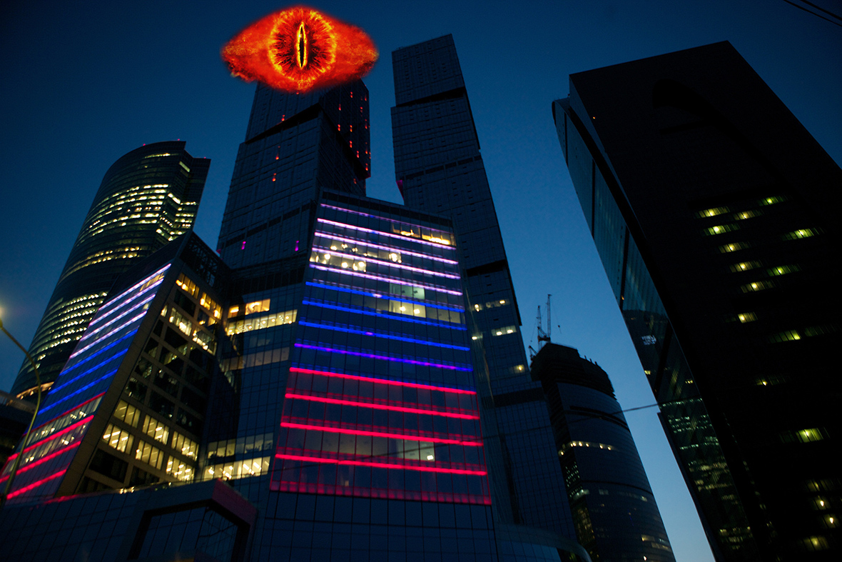 Eye of Sauron on Moscow skyscraper