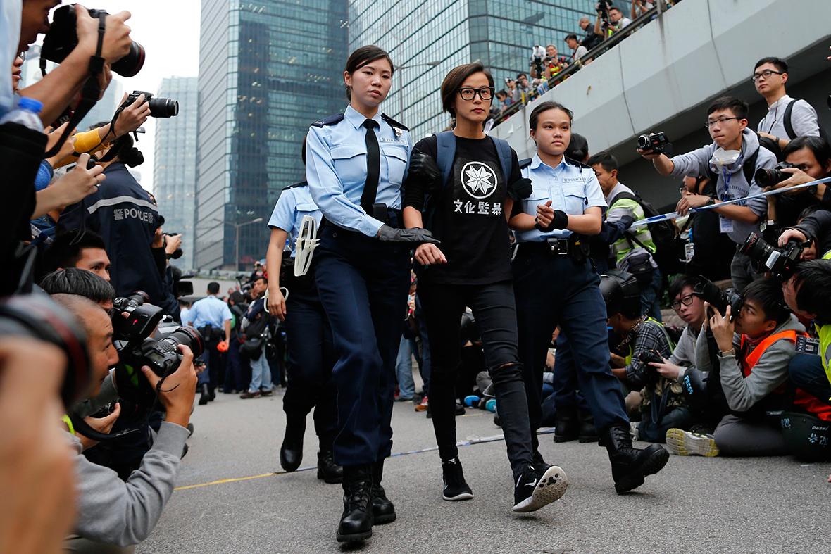 Hong Kong Defiant Protesters Give Hunger Games Three