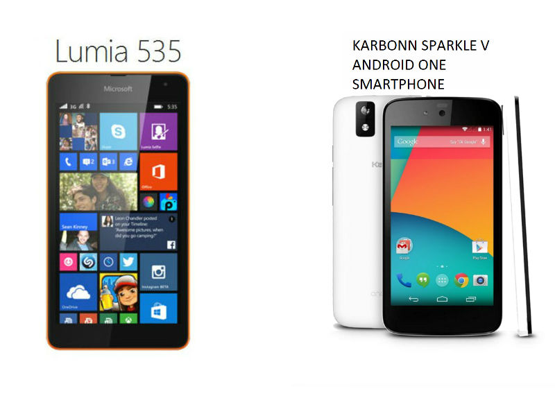 microsoft lumia 535 vs android one  which is the better