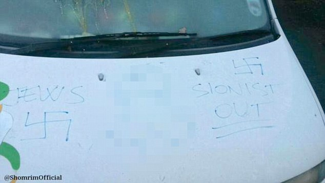 swastikas shomrim anti semitism attack north london shomrim