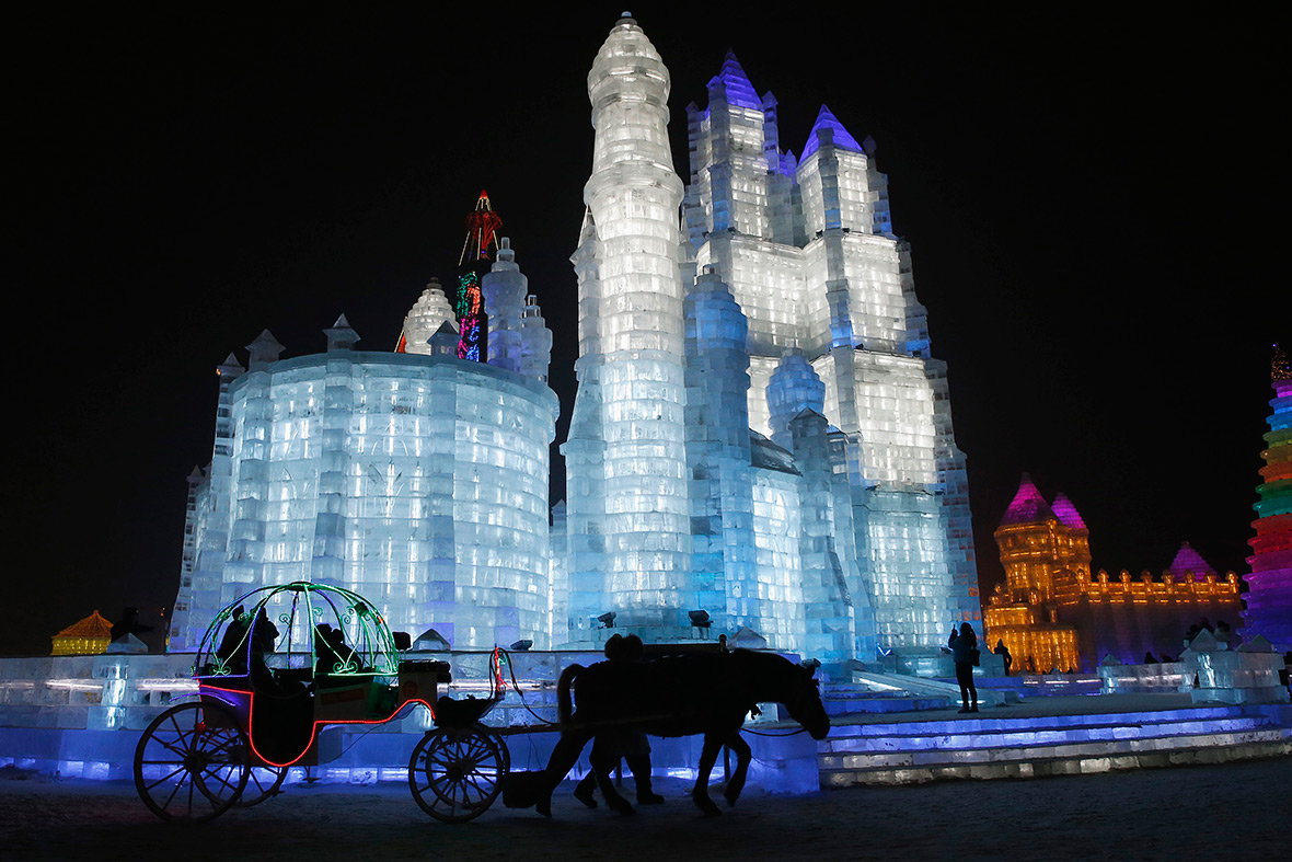 A city made of ice spectacular sculptures at the