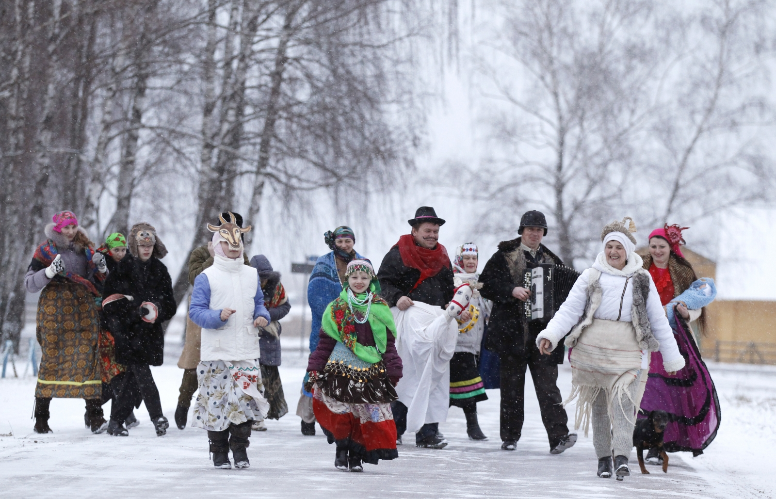 Sing near minsk in belarus on the eve of the orthodox new year reuters