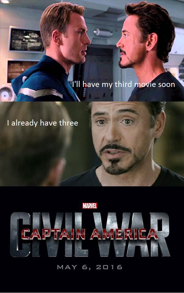 Funny Memes For Meme War : Captain america civil war memes wonder why iron man and