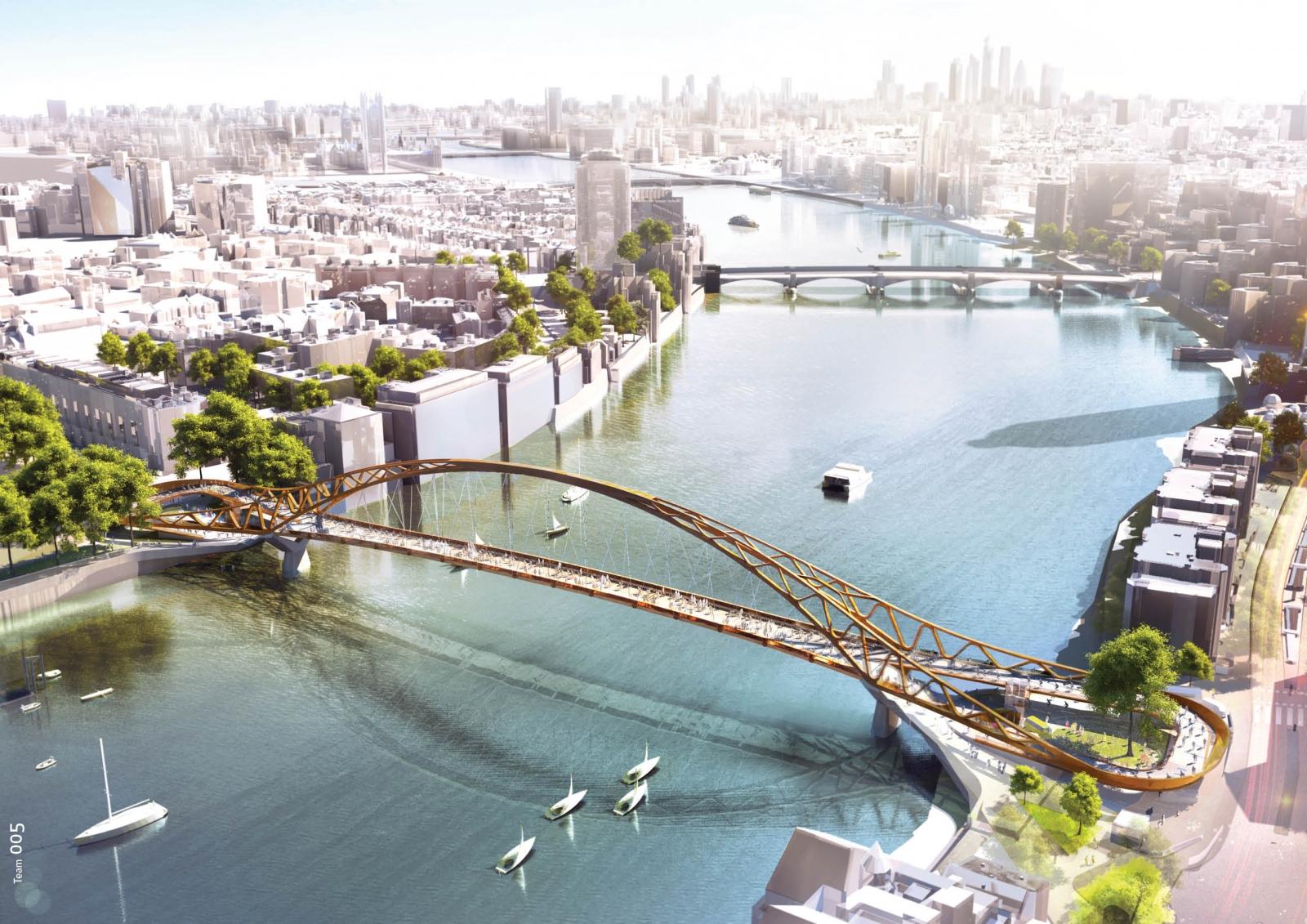 Stunning designs for new london bridge between nine elms for Design bridge london