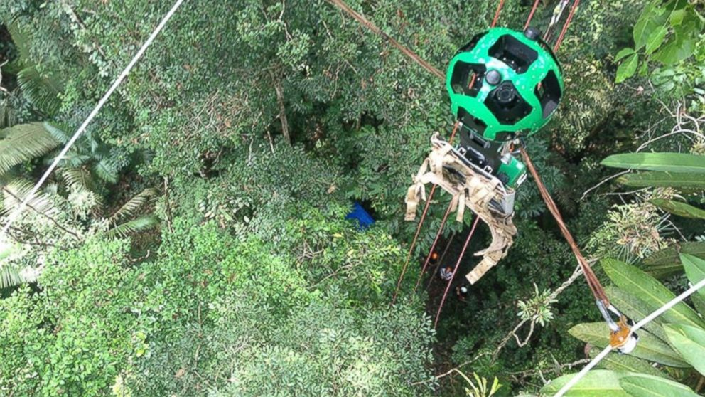 Google Street View extends to zip-lines through the Amazon rainforest